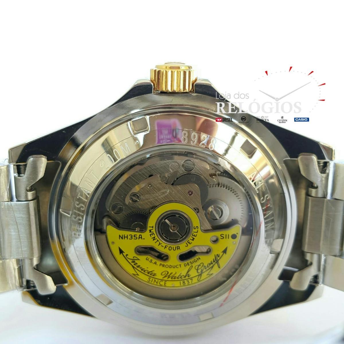 5687932624e Relógio Invicta Pro Diver Mod 8928 Original Preto Rolex - R  629