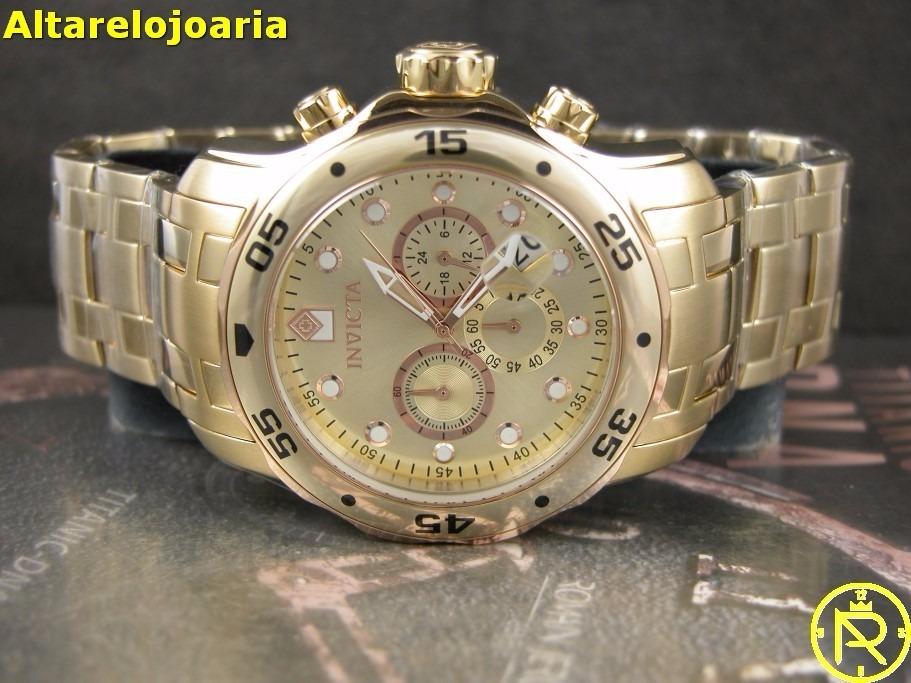 46d9f232080 relógio invicta pro diver plaque ouro 80071. Carregando zoom.