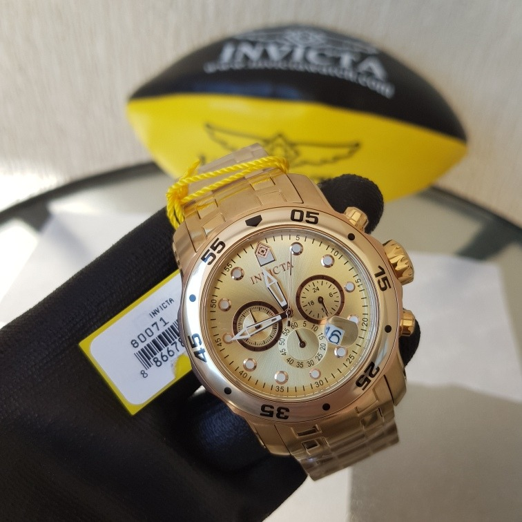 8d4530b8fe5 Relógio Invicta Pro Diver Plaque Ouro 80071 - R  849