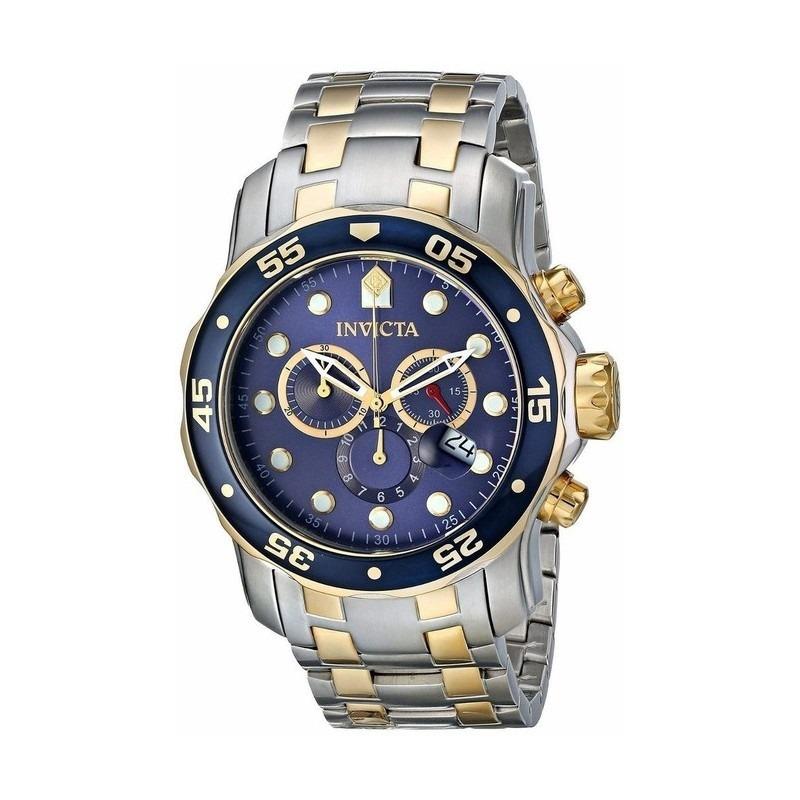 9dd44608a29 relógio invicta pro diver prata dourado 0077. Carregando zoom.