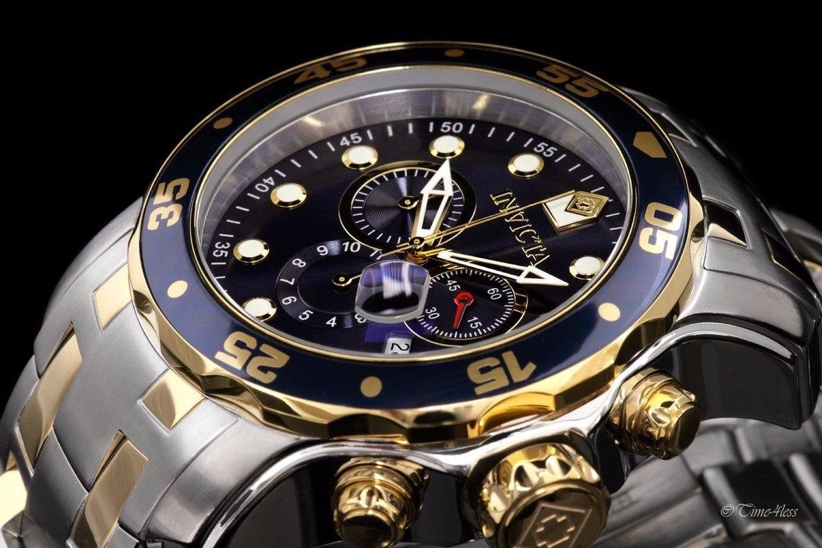 50bc829a682 Relógio Invicta Pro Diver Prata Dourado Original 0077 D54 R1 - R  374