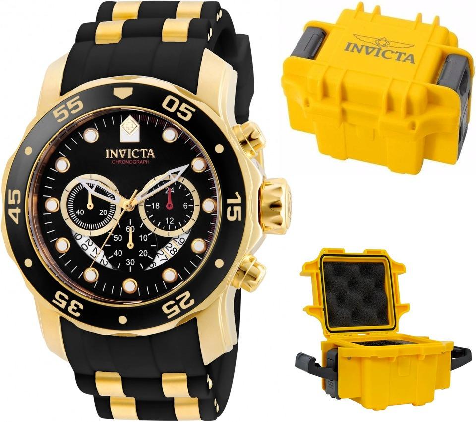 8fac3c26456 Relógio Invicta Pro Diver Vd53 Banhado Ouro 18k Maleta - R  2.095
