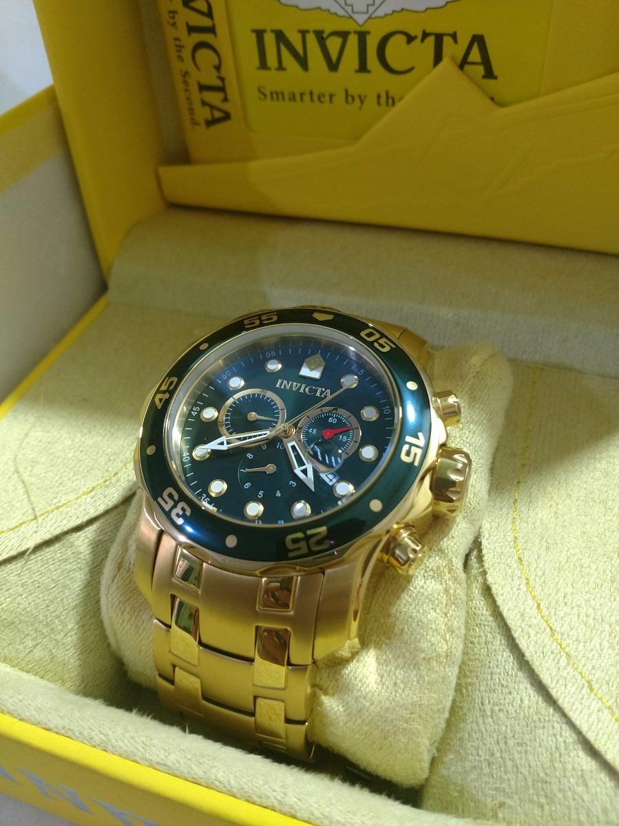 e2f67c01016 relógio invicta pro driver original folheado a ouro 18k. Carregando zoom.