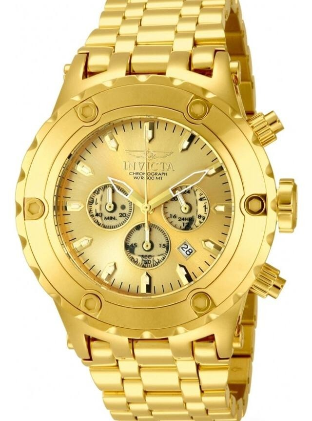 532f0932254 Relógio Invicta Reserve 14506 - Ouro 18k - Original - Novo - R  4.499