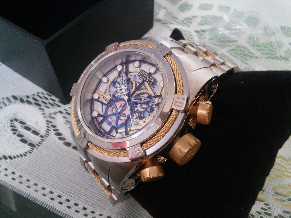 a386f8ef6cd relógio invicta reserve bolt zeus 13751 pulseira inox ouro. Carregando zoom.
