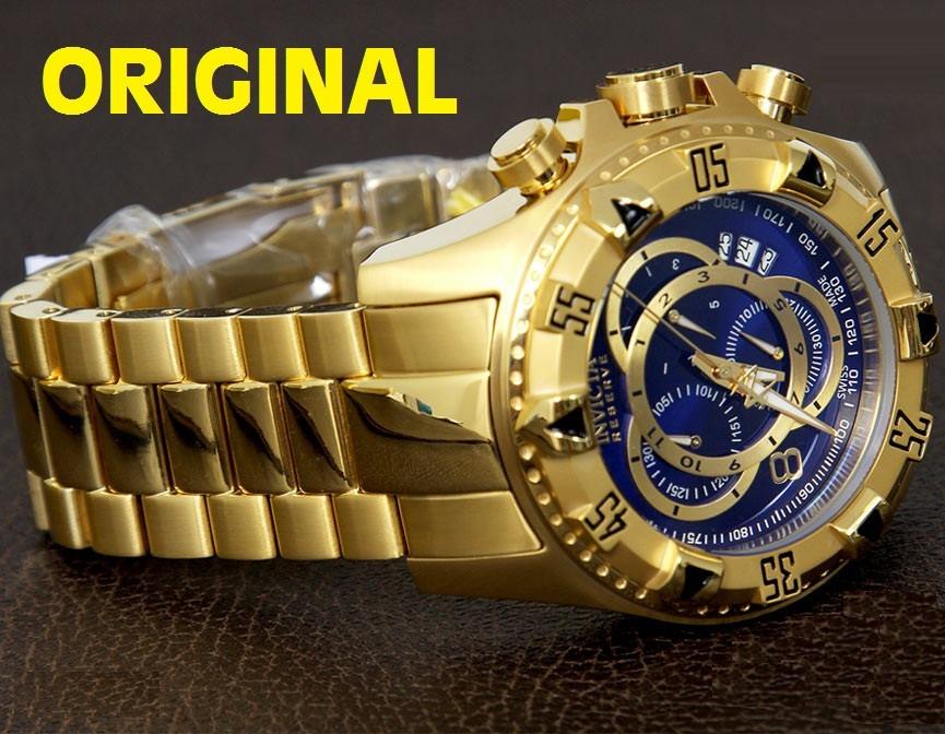 7f0604c2178 relógio invicta reserve dourado masc mod6469 defeito caixa. Carregando zoom.