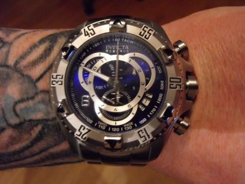 relógio invicta reserve excursion 5526 prata azul e34