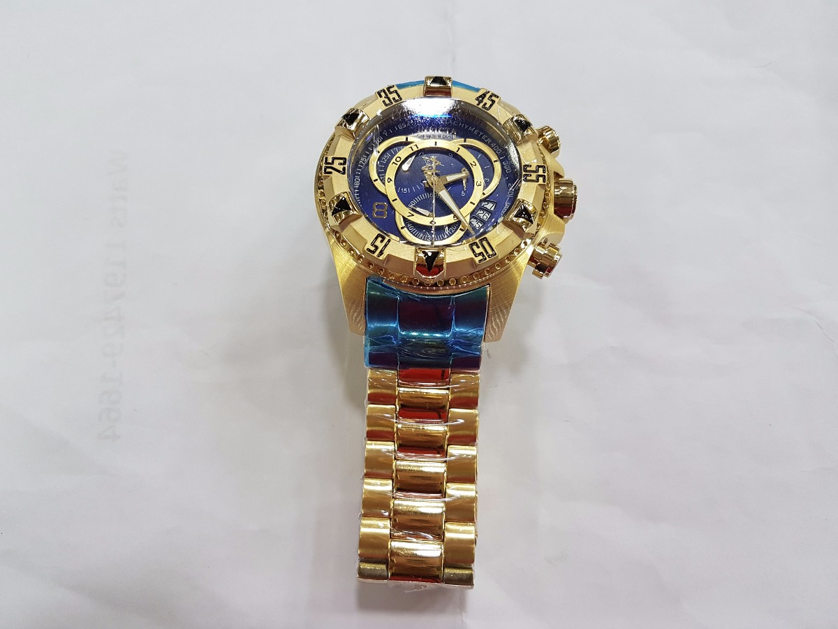70975c77033 relógio invicta reserve excursion 6469 gold frete gratis. Carregando zoom.
