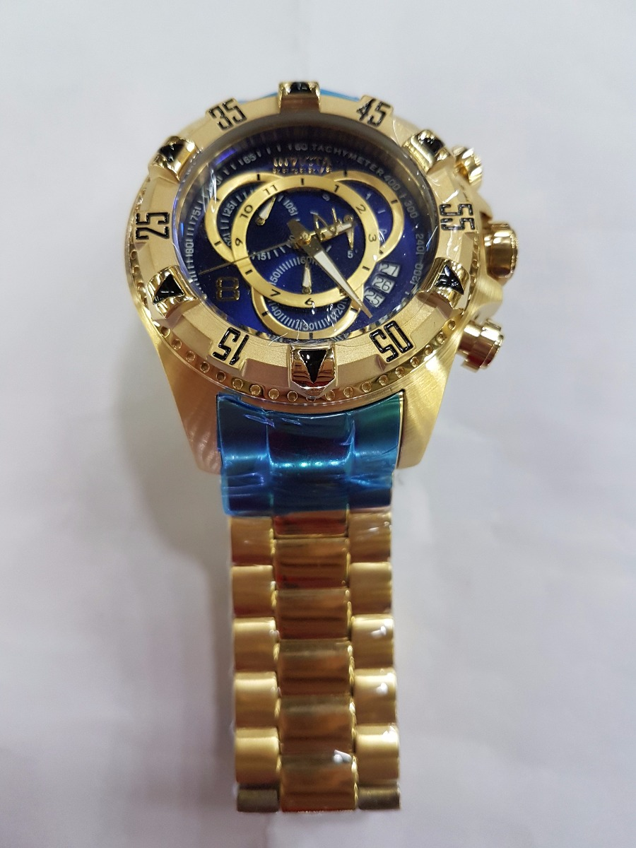 0d6272c8b73 relógio invicta reserve excursion 6469 gold frete gratis. Carregando zoom.