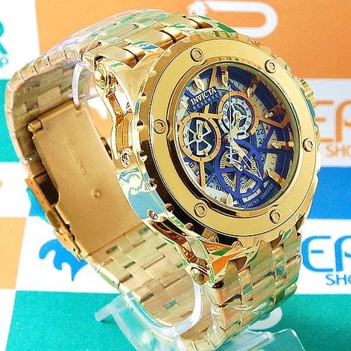 8c1b95a1f11 Relógio Invicta Reserve Funcional Dourado À Prova D´água - R  399