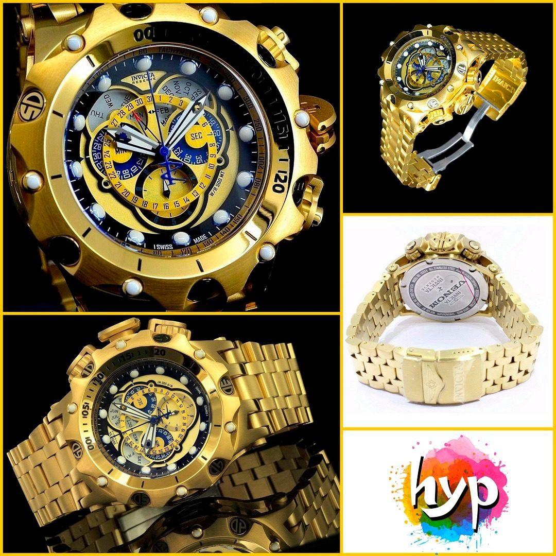 c3c87a918f8 Relógio Invicta Reserve - Ouro 18k - R  799