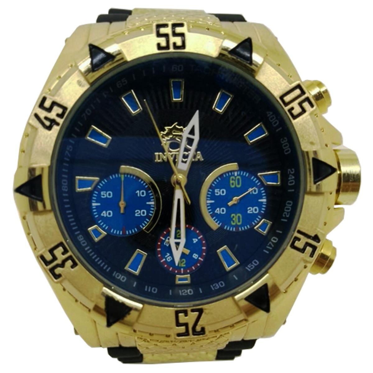 07aa140ac4c relógio invicta reserve subaqua gold 100% a prova d  água. Carregando zoom.
