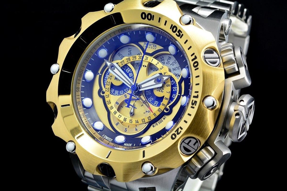 376cb5d77e7 relógio invicta reserve venom hybrid master calendar 16807. Carregando zoom.