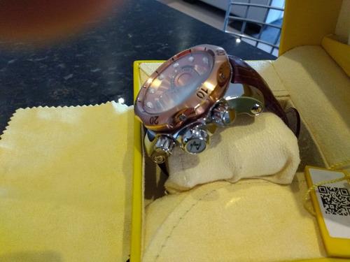 relogio invicta reserve venom pulseira de couro lindooo