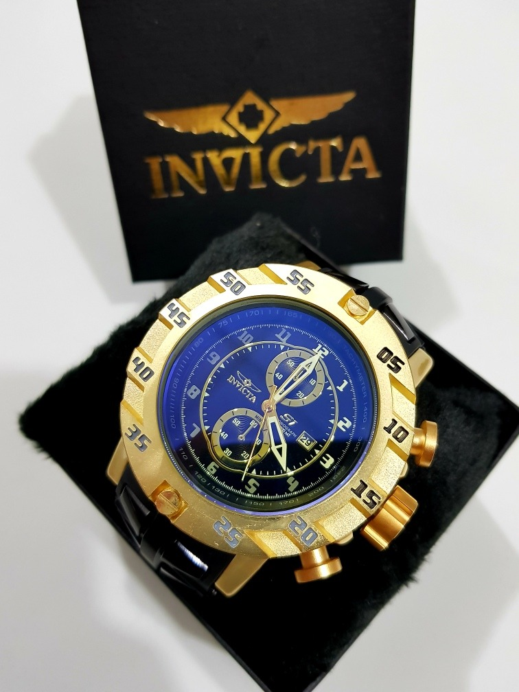 0c14b00be68 relógio invicta s1 dourado preto pesado barato top. Carregando zoom.