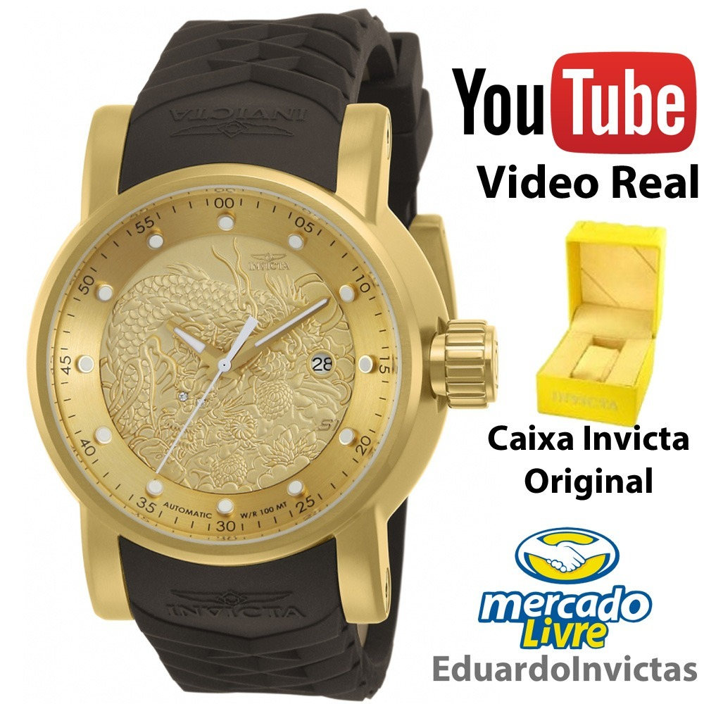 903db2f6204 Relógio Invicta S1 Rally Yakuza 12790 Masculino Original+ Nf - R  1.062
