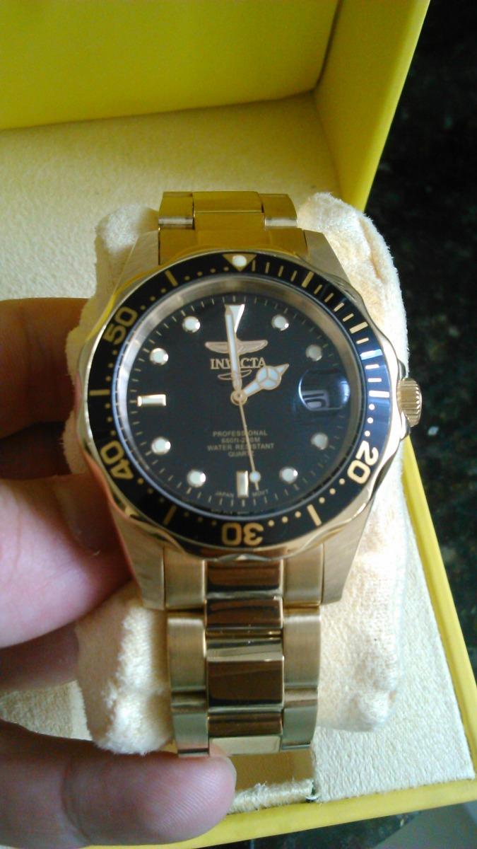3b2eb3d4dad relógio invicta serie ouro 24k. Carregando zoom.