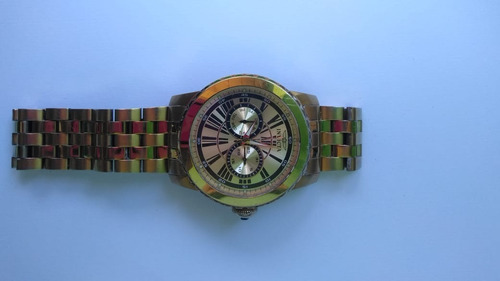 relógio invicta specialty making history tritnite - ouro 18k