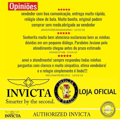 f2416301882 Relógio Invicta Speedway 19527 19532 Banhado Ouro Original - R ...