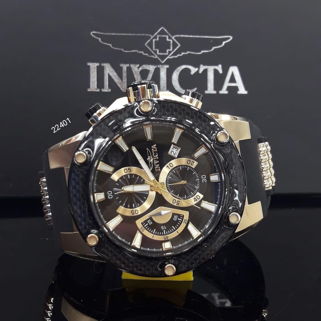 b35103ce3a7 relógio invicta speedway 22401 original b.ouro 18k. Carregando zoom.