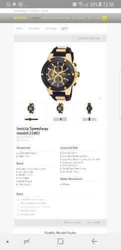 84b7ae65b2e Relógio Invicta Speedway 22401 Original B.ouro 18k - R  699