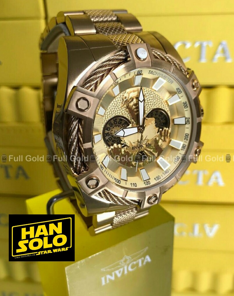 8e0d23dc955 Relógio Invicta Star Wars 27301 - Han Solo - Lançamento 2019 - R ...