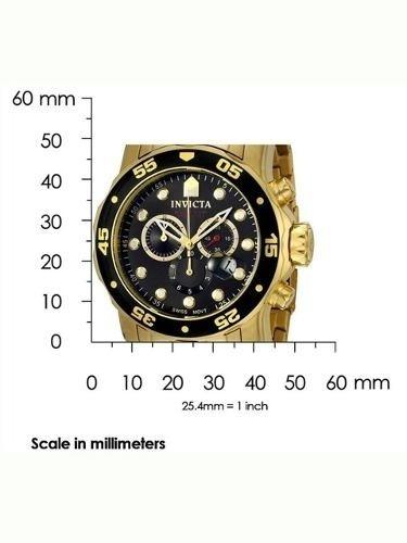 relógio invicta subaqua 0072 - banhado a ouro 18 k -original