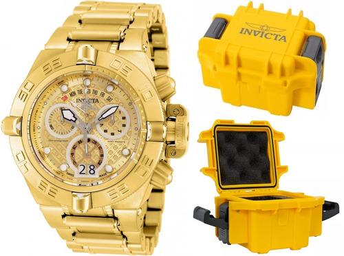 relógio invicta subaqua 17606 original banhado ouro maleta