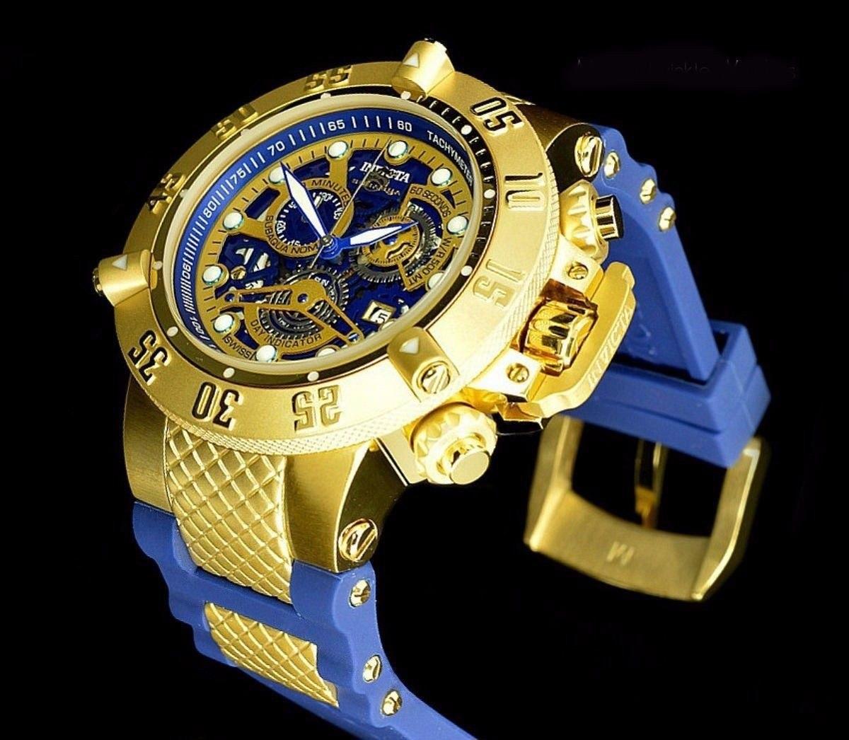 bf7ea4aeaf3 relógio invicta subaqua 18527 dourado - original garantia. Carregando zoom.
