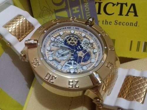 3663cb2bd87 Relógio Invicta Subaqua 18528 Branco Original + Caixa Manual - R ...