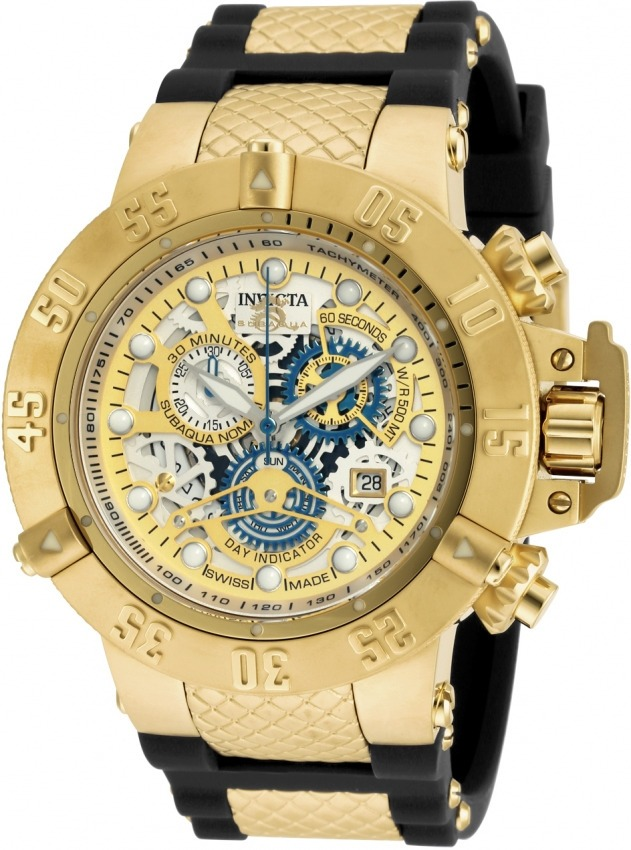 aeb782974af relógio invicta subaqua 18528 original banhado ouro n fiscal. Carregando  zoom.