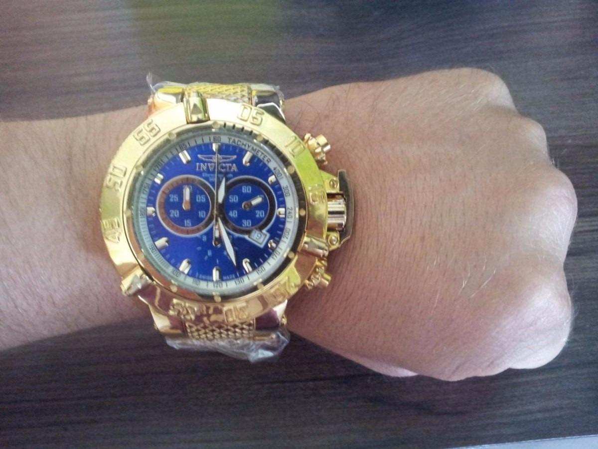 50b0e98d42d relógio invicta subaqua noma 3 iii 14501 gold 18k na caixa. Carregando zoom.
