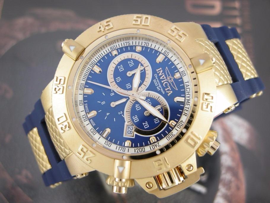 2904f3e60ab relógio invicta subaqua noma 3 iii azul 5515 ouro 18k ! 50mm. Carregando  zoom.