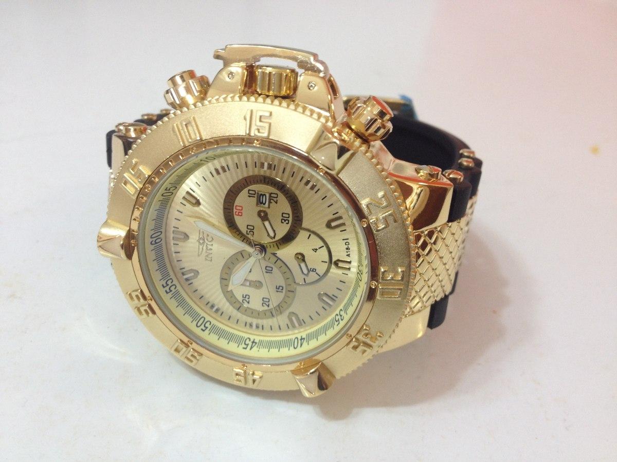 f006d2931f5 relógio invicta subaqua noma 3 iii gold pulseira de borracha. Carregando  zoom.