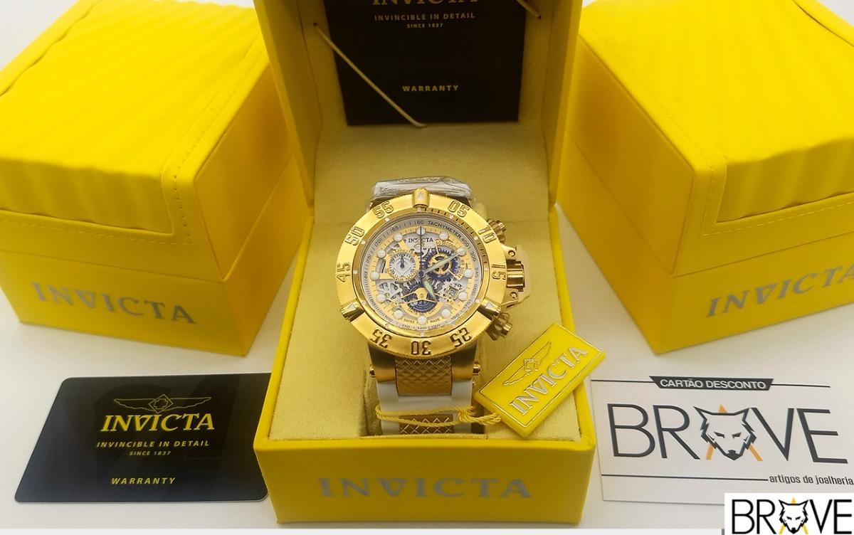 de10cc34a88 relógio invicta subaqua noma 3 skeleton 18527 caixa original. Carregando  zoom.