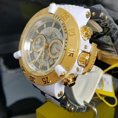 relógio invicta subaqua noma iii 0928 original branco crono
