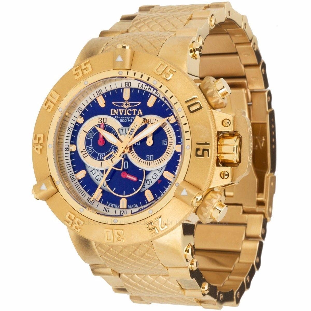 f331a671313 relógio invicta subaqua noma iii - 5404 dourado masculino. Carregando zoom.