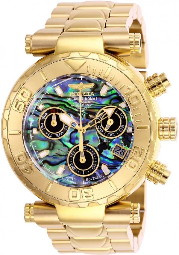 c54ba6fe48f relógio invicta subaqua swiss 25801 original banhado ouro. Carregando zoom.