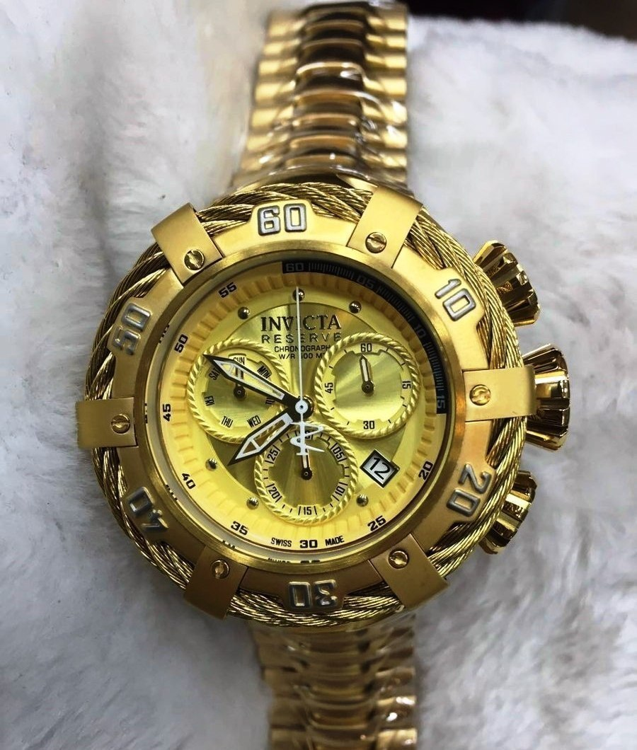 21285edbd43 relógio invicta thunderbolt 21359 dourado zeus reserve 53mm. Carregando zoom .