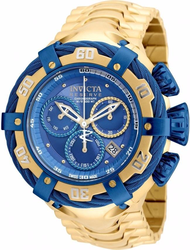 2e553314ae2 relogio invicta thunderbolt 21361 gold blue 54mm original ! Carregando zoom.