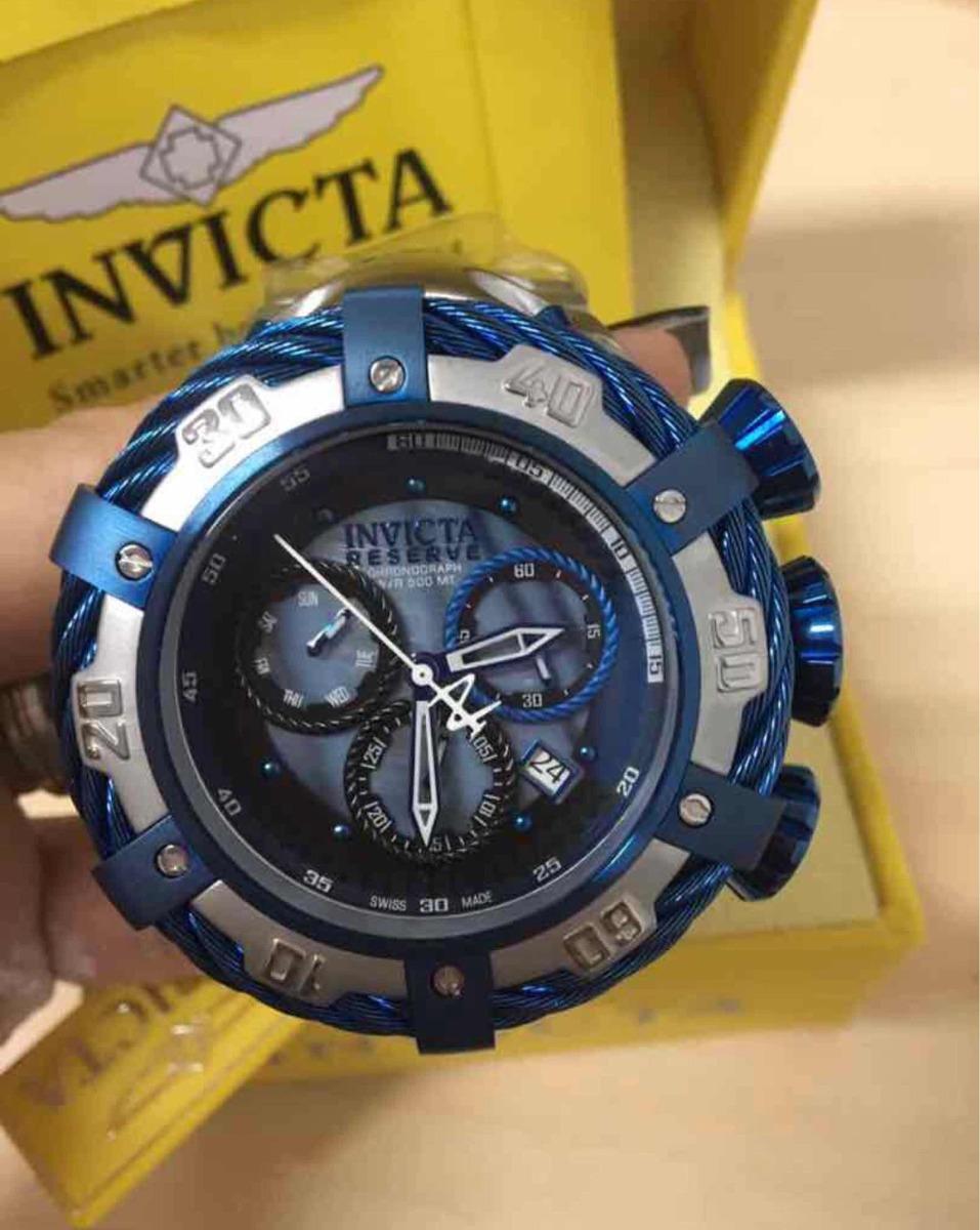 30be8d32139 relógio invicta thunderbolt prata azul original garantia 3 a. Carregando  zoom.