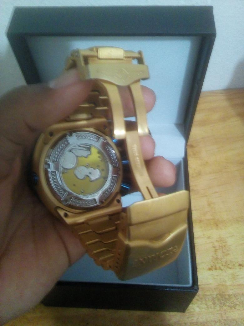 1d31ef9637b relógio invicta thunderbolt skeleton gold novo ffx3398. Carregando zoom.