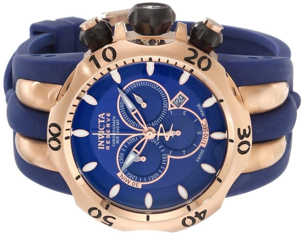 94226c4bc4c relógio invicta venom 10831 reserve azul rosê original novo. Carregando  zoom.