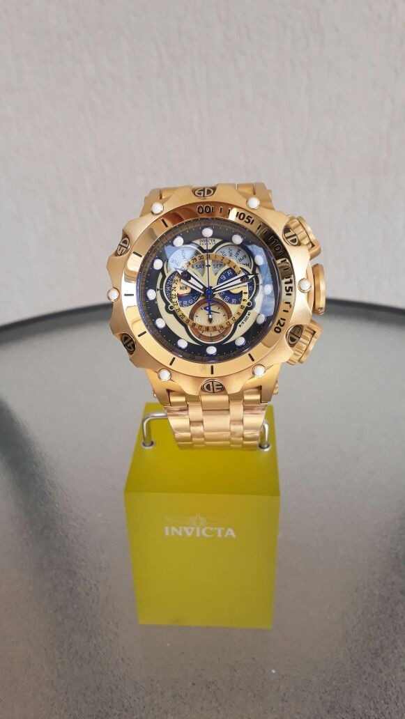 204693ab707 relógio invicta venom 16804 original banho ouro 18k. Carregando zoom.
