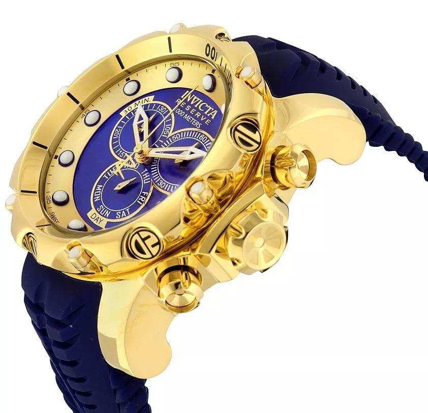ff56835b9e9 relógio invicta venom 20400 20401 20402 original banho ouro. Carregando  zoom.