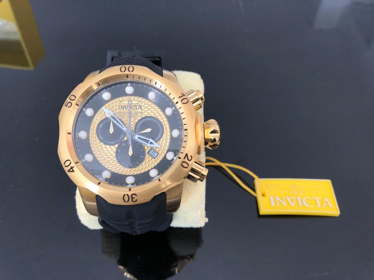 03c0f30be63 Relógio Invicta Venom 20443 Original - Banhado A Ouro - R  1.750