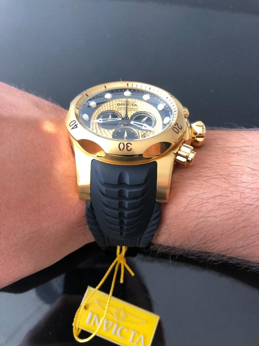 13dad27d602 Relógio Invicta Venom 20443 Original - Banhado A Ouro - R  1.750