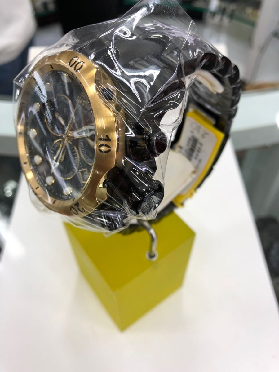 6a76a83f29d relógio invicta venom 23895 - original - preto dourado. Carregando zoom.