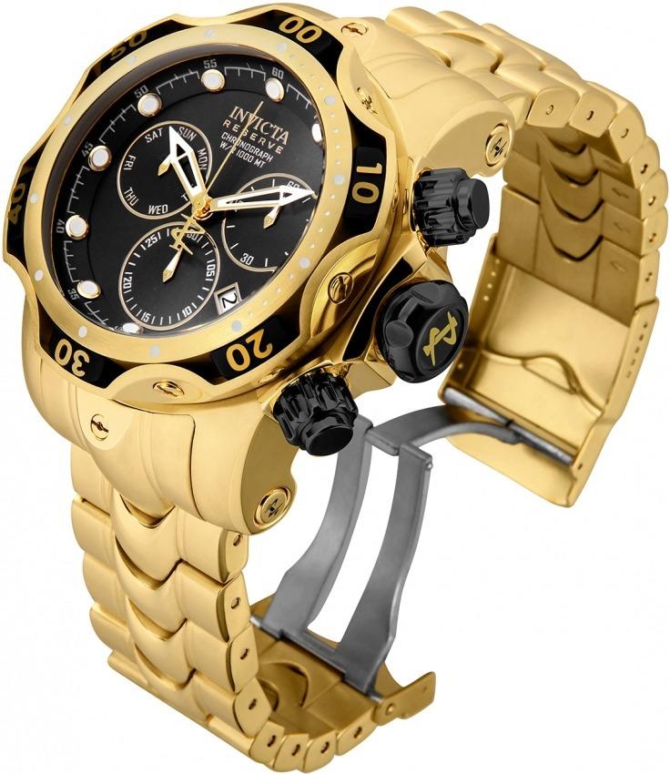 9dcb9a886d6 relógio invicta venom 25979 original banhado ouro 18k maleta. Carregando  zoom.
