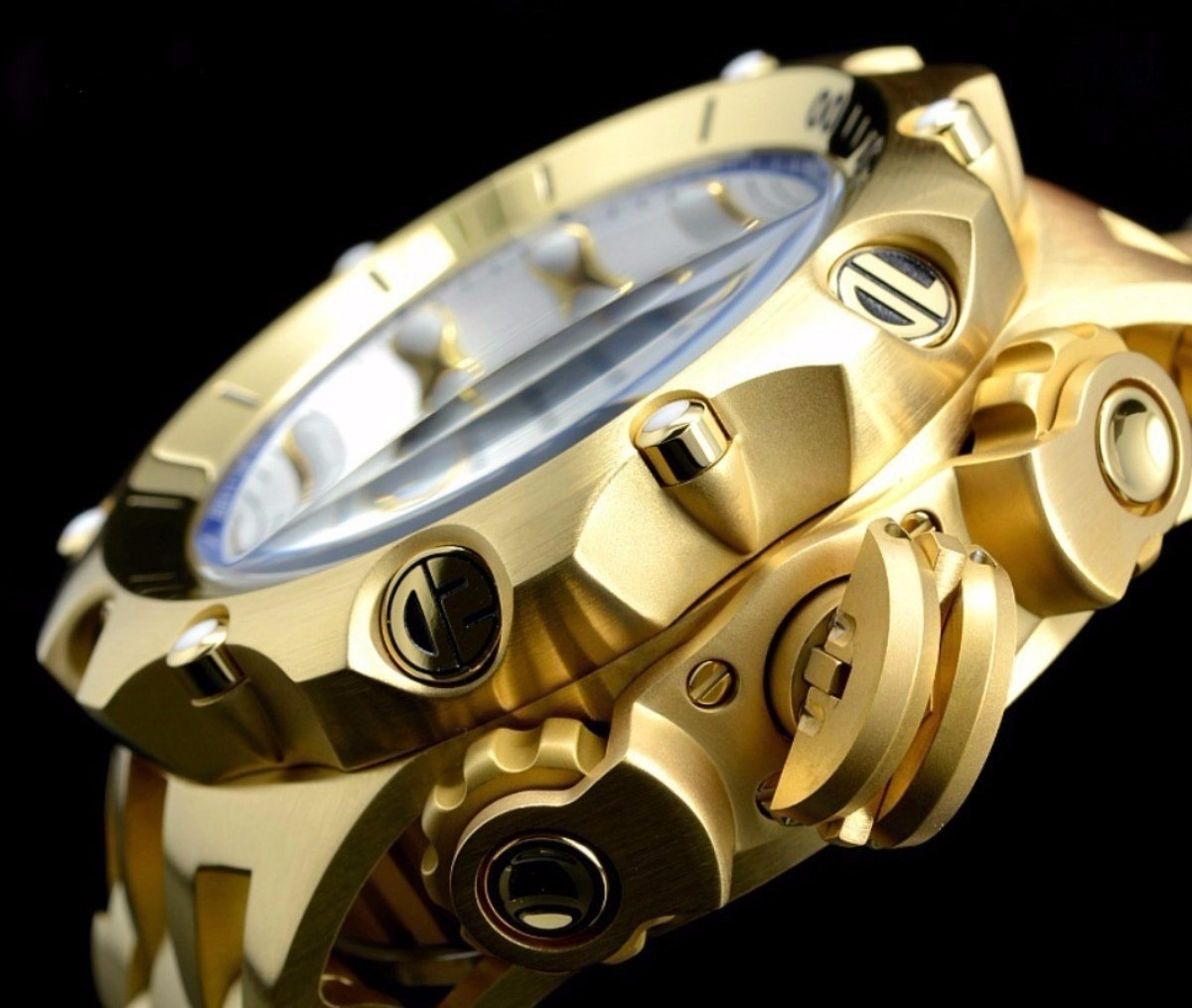 658fac3df76 relógio invicta venom hybrid 16804 dourado top original. Carregando zoom.